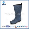 neueste reifen marineblau lange billige frauen gummi regen stiefel