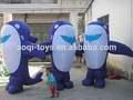 Oem ballena inflable de dibujos animados para la promoción/publicidad inflable caminar de dibujos animados