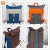 Canvas Backpack Tote Unisex Beige Blue Laptop bag Zip Top Backpack