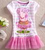 2015wholesale girls' dress ,Peppa pig dresses ,kids clothes