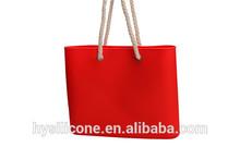Fashion silicone beach bag for girls waterproof of beach bag