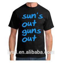 Sun's Out Guns Out T shirt 100% Cotton T shirt Custom Men,Women and Kids' Size