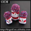 Custom 3pcs/set red+blue+white Knitted Golf Driver Fairway Wood FW #1 #3 #5 Head Covers Headcover