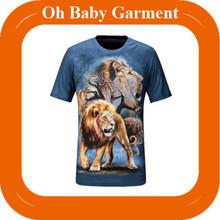 New Arrival Men Lion 3d Printing T Shirt High Quality Factory Price 3d T Shirt Designs Wholesale