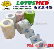 LOTUSMED non-woven cohesive elastic bandage / horse wrap cohesive bandage ( S )
