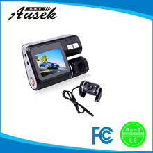 Special offer ! 2.4'' screen hd 720p mini hd dual Lens digital video car camera AK-X5 with GPS