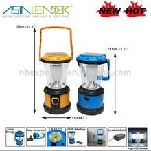 5LED Solar Lantern Rechargeable Camping tent lighting solar lantern light