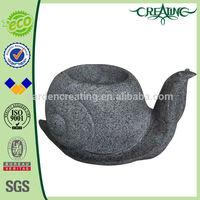"""14"""" Sanil Animal Planter Marble Finish Resin Flower Pot"""