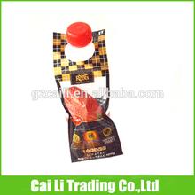 wholesale oem customed designed colored header cellophane bags