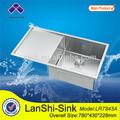 Lr7843a de aço inoxidável cozinha indiana design de alta tecnologia pequeno canto pia da cozinha