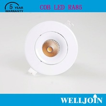 Professional Adjustable 7W LED COB downlight 10w dimmable ce & rohs