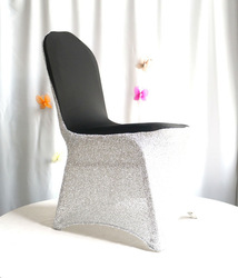 new bright silver lycra spandex chair cover