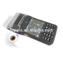 Bluetooth Wi-Fi GPS wireless rugged PDA with printer, handheld barcode scanner / rfid reader