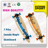 2014 New Design Custom 7 Ply Canadian Maple Skateboard, Complete Professional Leading Manufacturer Long Board