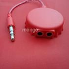 promotion item earphone splitter for beer Coca Cola