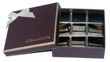 Special hot-sale brown velvet chocolate boxes packaging