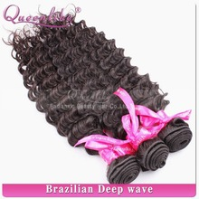 Alibaba wholesale 6a 100% natural unprocessed free sample bundles queenlike hair products natural deep wave extensions hair