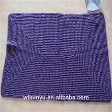 mat pure handmade Crochet rectangular table mat 2 color cross knits
