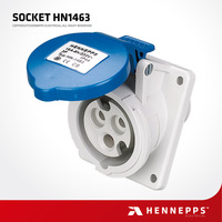 Hennepps IP44 230V 16A 3P Ajcee Waterproof Plastic Electric Plug And Socket