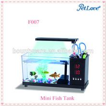 Multicolor LED Touch Light Desktop USB Mini Fish Tank for Home Office Decoration