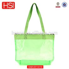 PVC Colorful Translucent Medium Size Clear Tote Bag Shoulder Bag Shopping Bag