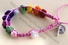 10mm Multicolor Cord- Knot Bracelet, Pink color
