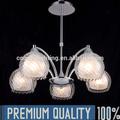 Moda gz20463-5p 5 cromo luces deiluminación colgante
