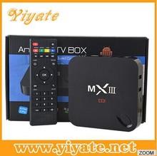 Original MXIII Android 4.4 Amlogic S802 Quad Core 2.0GHz 2GB/8GB DLNA 2.4/5GHz wifi XBMC MX3 4k*2k Bluetooth Smart TV Box