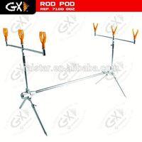 Aluminum carp fishing rod pod and armchair tray