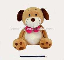 45cm Stuffed sitting toy dog with bow tie