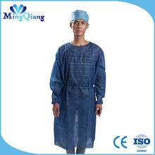 Alimentação e design não descartável tecido hospital cirúrgico vestido