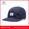wholesale high quality fashion custom-made flat brim screen print 5 panel cap