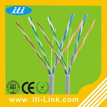 lan cable factory best price utp cat5e lan cable 4pr 24awg Hot Sale Gray Color 305m/roll Utp Cat5e Lan Cable Best Price Utp Cat5