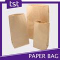 reciclado de papel kraft marrón bolsa de alimentos para