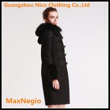 New style maxi office formal wear women overcoat 2014 coat for women