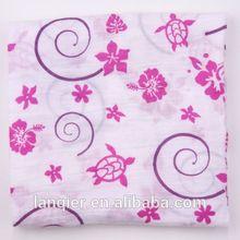 100% cotton water absorbent breathable muslin blanket , custom flower pattern