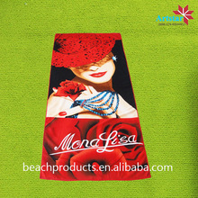 microfiber sex women with red rose beach towel