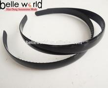 cheap plain black hard plastic headband