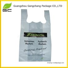 Wholesaler for plastic t shirt garbage vest carrier packing tote bag