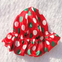 Stylish baby hat fashion satin flower christmas hat