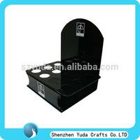 Black lucite display for umbrella, acrylic umbrella holder, tabletop plexiglass umbrella display stand