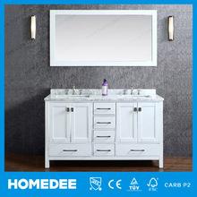 New Design Solid Wood Double Sink Tall Bathroom Vanity