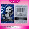 Wholesale high quality 10g King Kong 3 flavors herbal incense ziplock bags / aluminum foil spice potpourri bag
