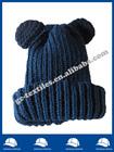 Dark blue ear funny baby knitting acrylic beanie Children winter hat cap
