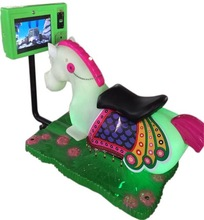 2014 new games coin operated kiddy ride Golden horse children game