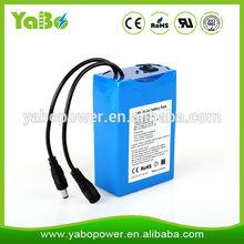 Batteria al litio ricaricabile 12v 6600mah per la luce del led/striscia/pannello, macchina fotografica del cctv, vestiti riscaldamento/scarpe/coperta