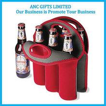 promotional logo printing neoprene beer can cooler bag