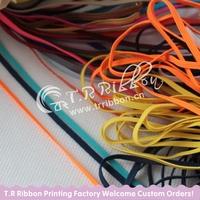 "High quality Custom 1/8"" Skinny Elastic, wholesale 3mm stretch Skinny elastic ribbon"