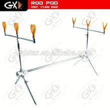 Aluminum carp fishing rod pod and hair rollers