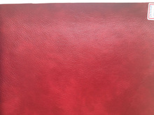 Print PU leather widly use for sofa/furniture/chair with Plain woven backing